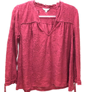 Lucky Brand Pullover 3/4 Sleeve Blouse Size M